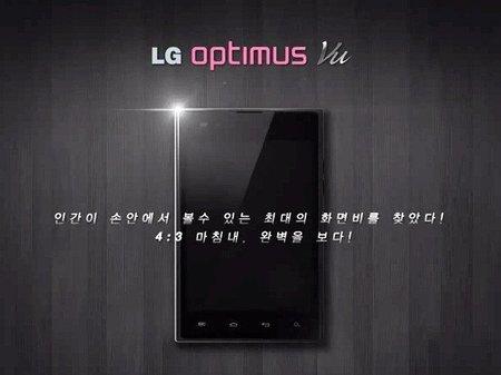 LG Optimus Vu, un smartphone Android con pantalla de 5 pulgadas