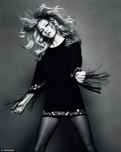 Kate Moss para Topshop, Otoño-Invierno 2010/2011 negro