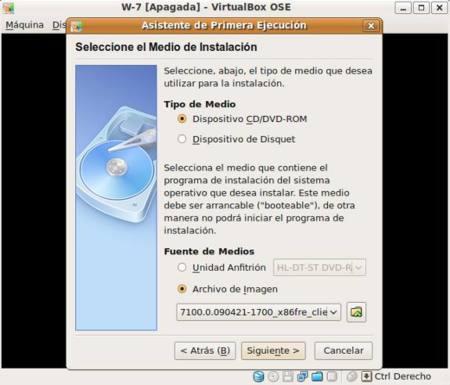 Asistente instalación sistema operativo