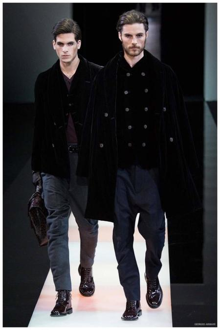 Giorgio Armani Menswear Fall Winter 2015 Collection Milan Fashion Week 015