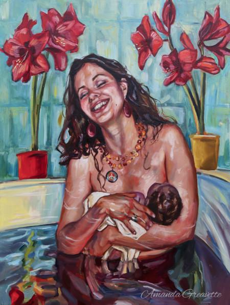 31 poderosas pinturas que expresan la belleza del embarazo y el nacimiento