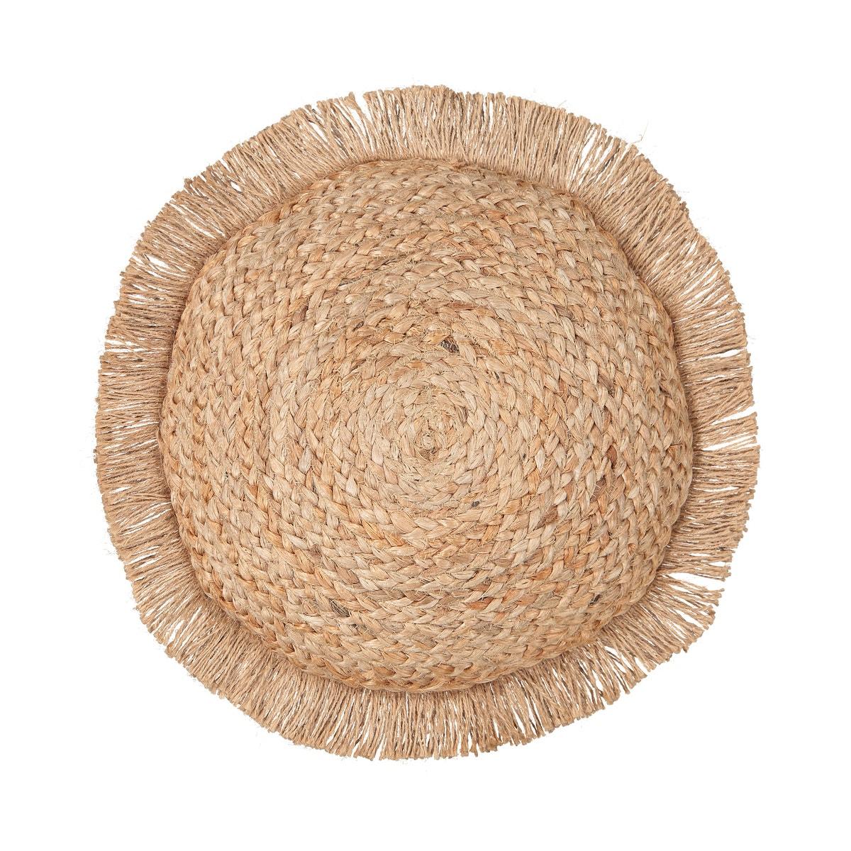 Cojín redondo de yute Ceylan