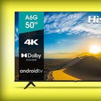 Smart TV Hisense con descuento en Amazon México: pantalla 4K de 50 pulgadas, Dolby Vision y Android TV por 8,499 pesos