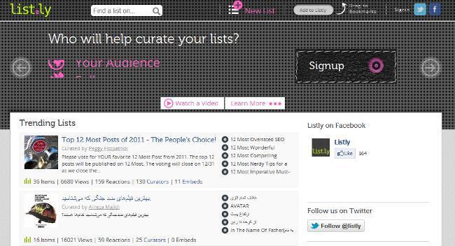 list.ly, un servicio para puntuar y compartir las mejores listas