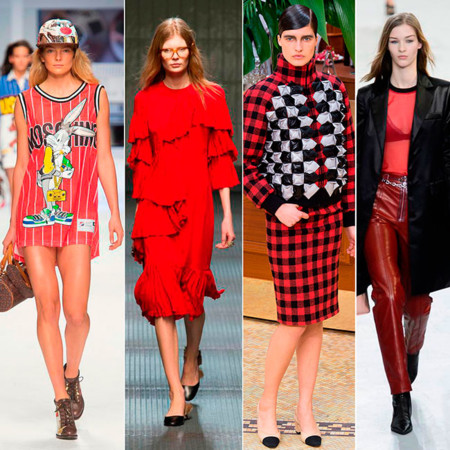 Moschino Gucci Chanel Vuitton Rojo
