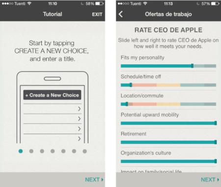 ChoiceMap: que tu iPhone te ayude a tomar decisiones importantes
