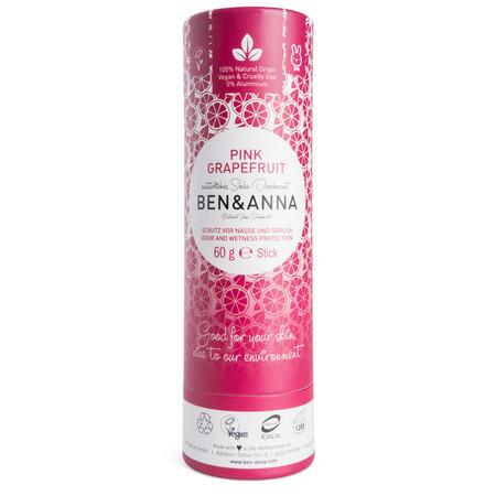 Ben Anna Natural Soda Deodorant Stick Papertube Pink Grenivka