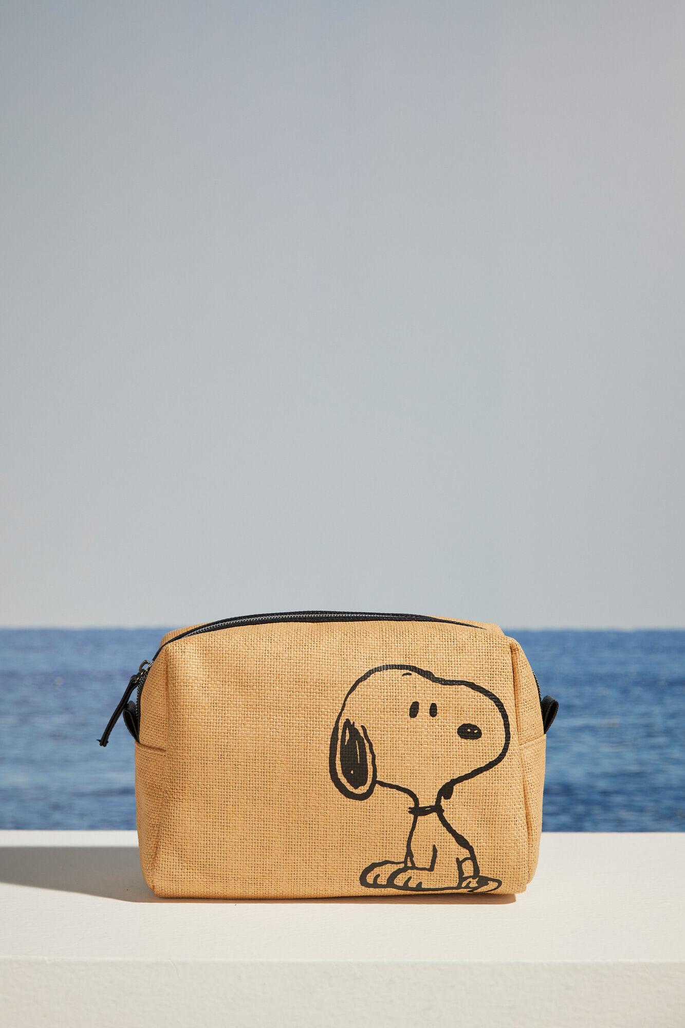 Neceser formato estuche rafia Snoopy
