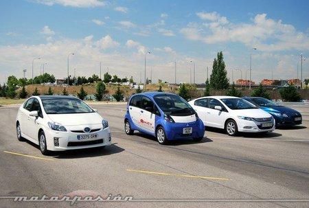 Toyota Prius, Mitsubishi i MiEV, Honda Insight y Honda CR-Z