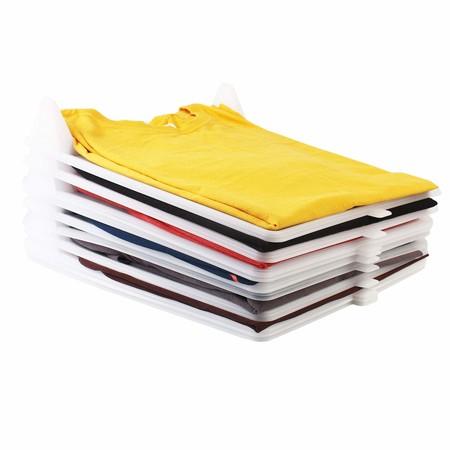 Organizador de camisetas, ropa, armario. Resistente y 100% reciclable. Antihumedad y Antiarrugas. Organiza camisas, cajoneras, estanterías, armarios. Pack 10