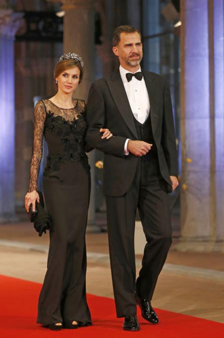 Princesa letizia en la Coronación de Holanda