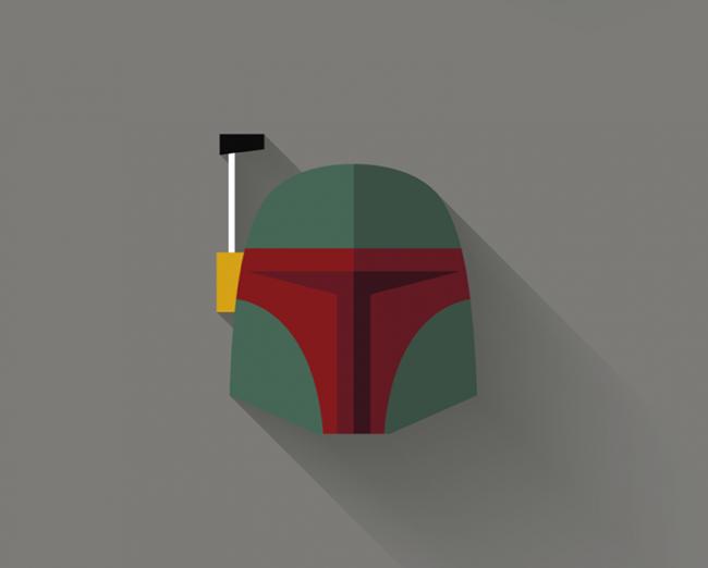 Original interpretación minimalista de los personajes de Star Wars por Filipe Carvalho