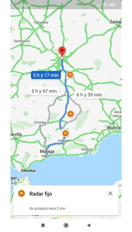 Radares Google Maps 2