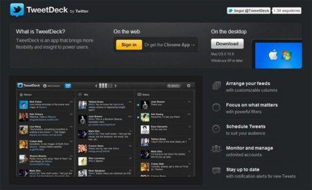 Twitter seguirá desarrollando aplicaciones TweetDeck para usuarios avanzados