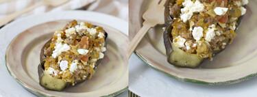 Papoutzakia o berenjenas rellenas de carne, receta tradicional griega