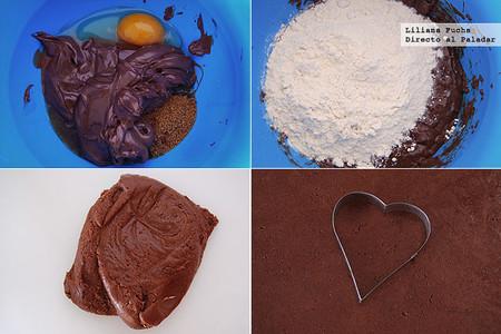 Galletas corazón de Nutella para San Valentín. Pasos de la receta