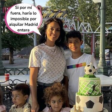 Georgina Rodríguez alquila el parque de atracciones de Madrid para que Cristiano Jr no tenga que esperar colas por su cumpleaños