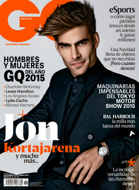 Jon Kortajarena, cual galán de telenovela, termina el año en la portada de la revista GQ México