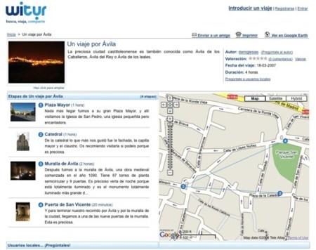 Witur, sugerencias de rutas de viajes