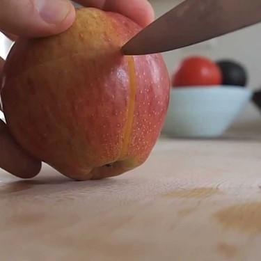 Cómo hacer un puzzle con una manzana