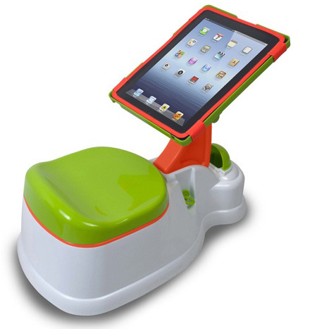 iPotty for iPad, orinal con soporte para tablet