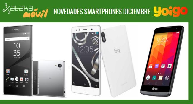 Novedades Smartphones Yoigo Diciembre