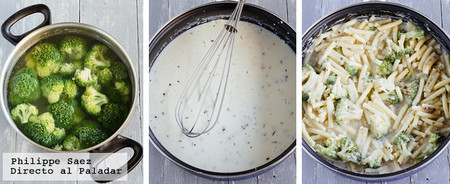 Macarones Cremosos Brocoli Receta