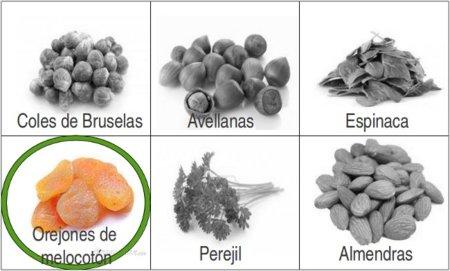 Solución a la adivinanza: el alimento de origen vegetal con más hierro son los orejones