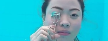 El vídeo más loco del día es este beauty challenge submarino: maquillarse bajo el agua se vuelve viral
