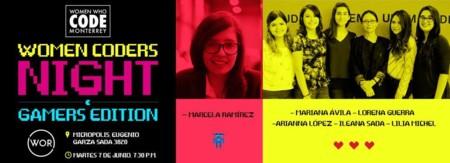 Women Coders Night: Gamers Edition se llevará a cabo en Monterrey el 7 de junio