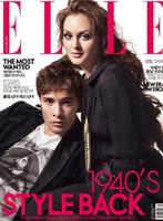 Leighton Meester y Ed Westwick impresionantes en la revista Elle