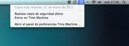 Comprueba el estado de una copia de Time Machine