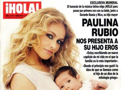 Paulina Rubio presume de hijo en portada