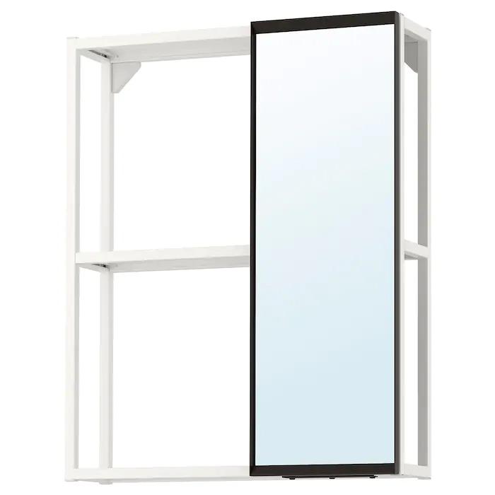 ENHET Armario de espejo, blanco 60x15x75 cm