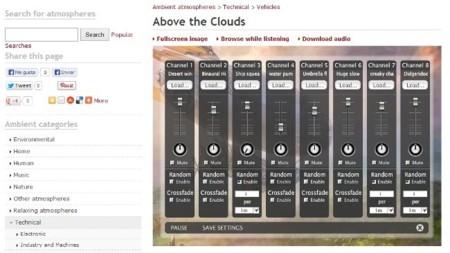 Crea mezclas propias de ruido ambiental con Ambient Mixer
