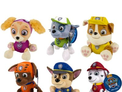 Peluches de La Patrulla Canina por 3,95 euros y envío gratis