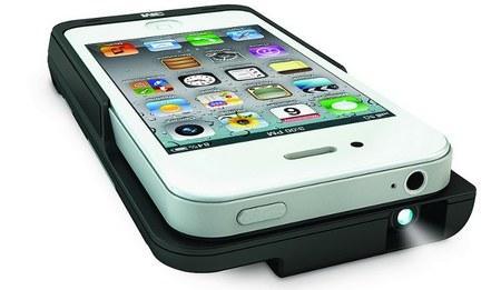 Picoproyector de 3M como carcasa para el iPhone