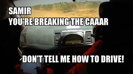 No quiero ir en coche contigo porque
