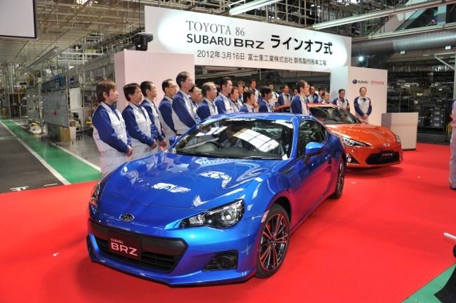 Inicio Producción Toyota GT 86 y Subaru BRZ