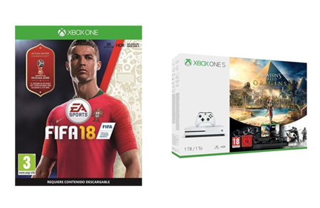 Pack Xbox One S de 1TB, con FIFA 18, Assassin's Creed y Tom Clancy's, por sólo 199,99 euros
