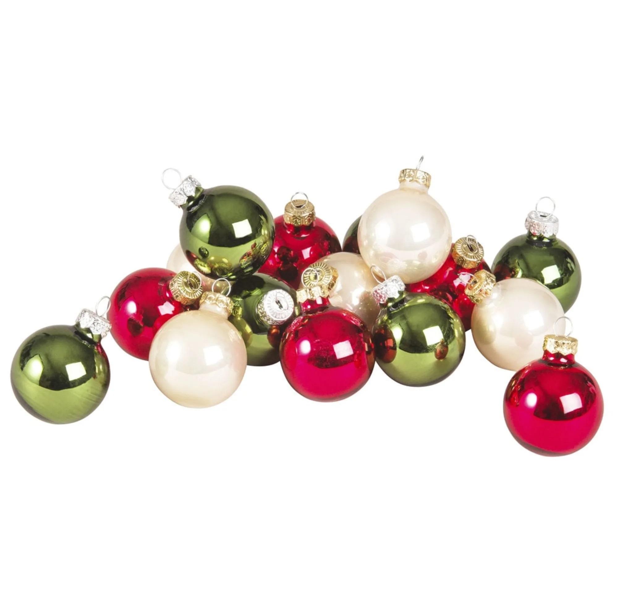 Set de 16 bolas de Navidad de cristal multicolor