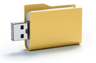 USB con forma de carpeta de archivos