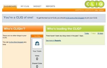 Cliq in, un widget con la información de tu blog y la de tus invitados