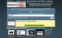 Extractyoutube.com, busca, visualiza y descarga vídeos de YouTube