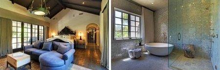 Dormitorio y baño de Hilary Duff