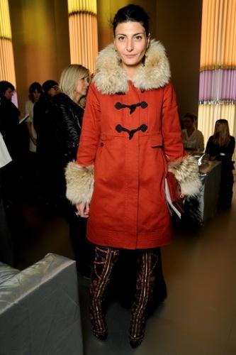 Más celebrities en los front row de los desfiles de Alta Costura en París. Giovanna Battaglia