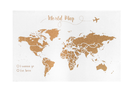 Decowood Mapa Del Mundo Corcho Blanco 19 99 Eur