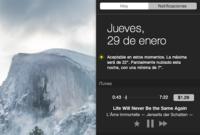 iTunes estrena widget en su nueva actualización para OS X Yosemite