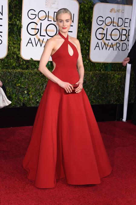 Taylor Schilling Ralph Lauren Golden Globes 2015