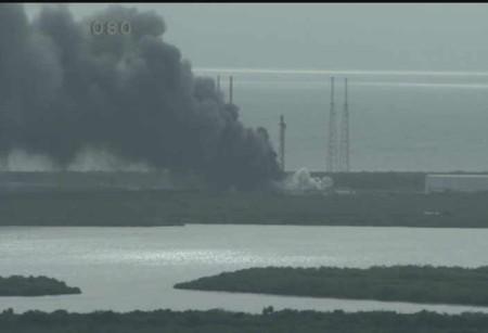 Un cohete Falcon 9 de SpaceX explota en Florida antes de su lanzamiento